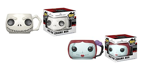 Funko POP Home: Disney Tim Burton's The Nightmare Before Christmas Jack and Sally Ceramic Mugs 2 Piece Gift Set - 12 Ounces