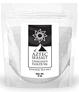 Fleur De Sel Gourmet Unrefined Kosher Salt - Natural Flor De Sal Sea Salt, 4oz