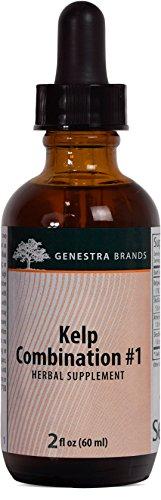 Borage Combo - Genestra Brands - Kelp Combination # 1 - Contains Bladderwrack, Borage, Skullcap, American Ginseng and Eleuthero - 2 fl oz (60 ml)