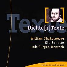 Die Sonette Hörbuch von William Shakespeare Gesprochen von: Jürgen Hentsch