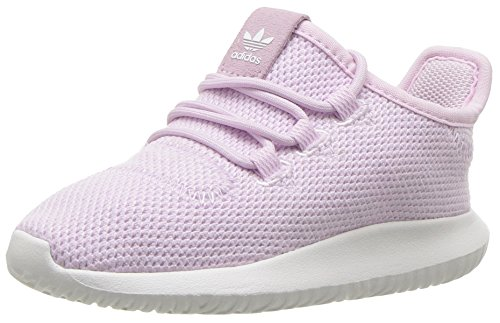 adidas Originals Girls' Tubular Shadow I, Aero Pink/White/White, 4 M US Toddler - Adidas Infant Sneakers