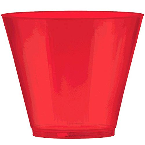 Apple Red Plastic Cup Big Party Pack, 9 Oz., 72 Ct.