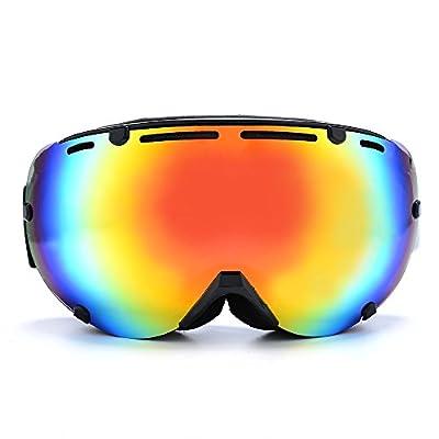 CongJi Adults Ski Goggles Snowboard Snowmobile Skate Dual-lens with 100% UV Protection Anti-fog
