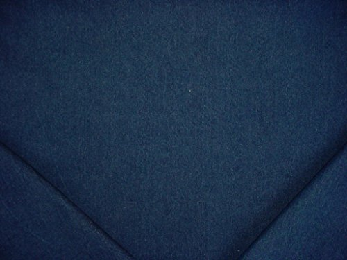 167RT4 - Dark Blue 20 oz. Cotton Denim Designer Upholstery Drapery Fabric - By the Yard (Dark Blue Cotton Upholstery)
