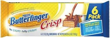 Nestle Butterfinger Crisp: 15 Packs of 6 Fun Size Bars (90 Total Fun size Bars)