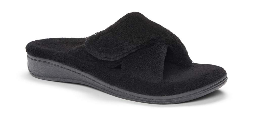 ORTHAHEEL Women's Relax Slipper, Black Terry, 8.0 M by  Vionic