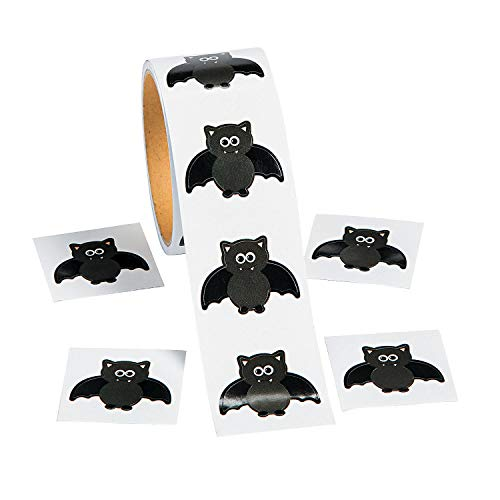 Fun Express Bat Roll Stickers for Halloween