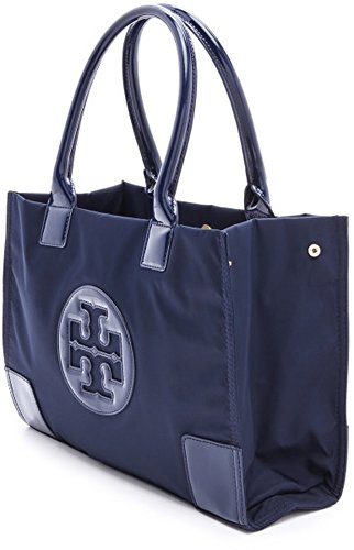 3682d5734c9 Image Unavailable. Image not available for. Color  Tory Burch Bag Ella Tote  French Navy Blue Mini