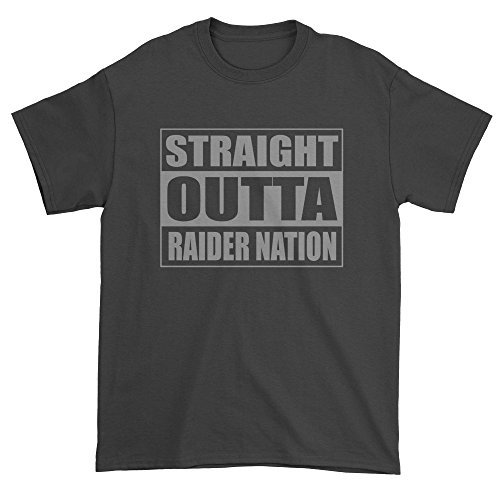 Expression Tees Mens Straight Outta Raider Nation T Shirt X Large Black