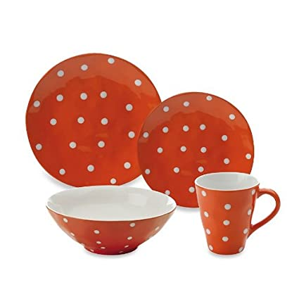 Maxwell and Williams Sprinkle 4-Piece Place Setting Orange  sc 1 st  Amazon.in : maxwell williams sprinkle dinnerware - pezcame.com