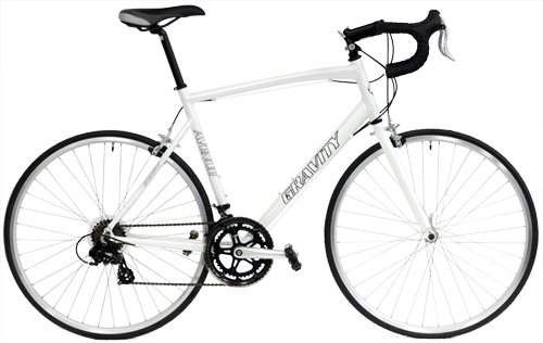Gravity Ave A Road Bike Shimano 14 Speed Semi-Compact AL Frame Aero Fork (White, 55cm) ()