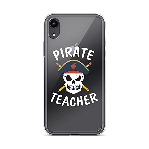 iPhone XR Pure Clear Case Cases Cover Teacher Pirate Skull Pencil Funny]()