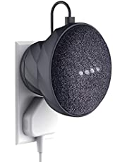 KIWI design Silicon Magnet Outlet Wall Mount Holder for Google Home Mini, A Space-Saving Accessories Case for Google Home Mini Speaker