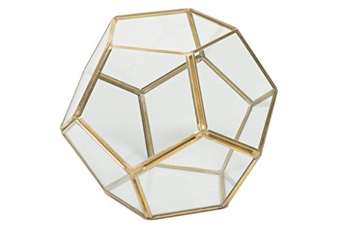 Gold Geometric Terrarium ~ Wedding Terrarium ~ Succulent Terrarium ~ Geometric Wedding Centerpiece ~ Geometric Centerpiece ~ Gold Wedding (8) by Country Chapel (Image #1)