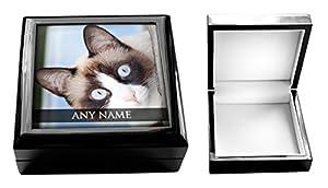 personalisierbar Schneeschuh Katze Tier Schmuck Box 0118