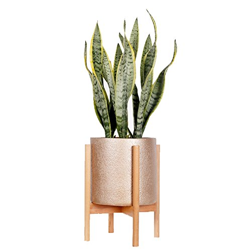 Plant Stands Indoor, Mid Century Modern Plant Wood Indoor Flower Pot Holder Fits Max 8 Pots(Plant and Pot NOT Included) (Medium (Fits max 8 pots), Nature)