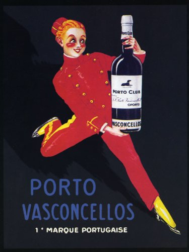 CANVAS Port Wine Portuguese Fortified Wine Produced Exclusively in the Douro Valley in the Northern Provinces of Portugal Lady Girl Waiter Bar Restaurant 20