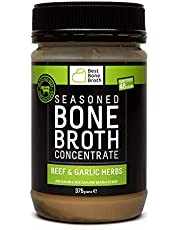 Premium Beef Bone Broth Concentrate Garlic Herb Flavour - Maximized Nutrition Bone Broth On The Go -