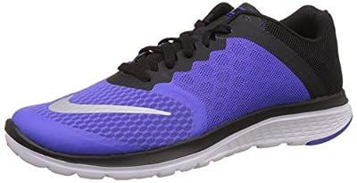 Nike Women's Fs Lite Run 3 Prsn Vlt/Mtllc Slvr/Blck/Wht Running Shoe 7 Women US