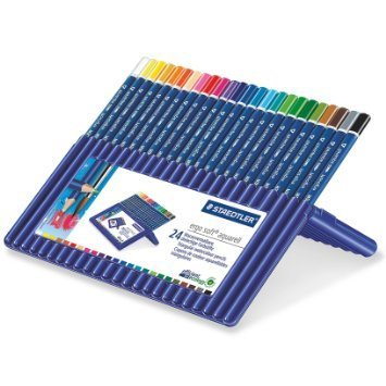 3 X Staedtler Ergosoft Watercolor Pencils (156SB24) by Staedtler