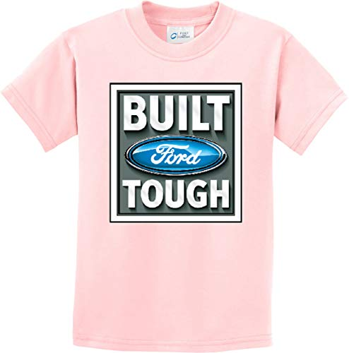 Built Ford Tough Youth Kids Shirt, Pale Pink Small