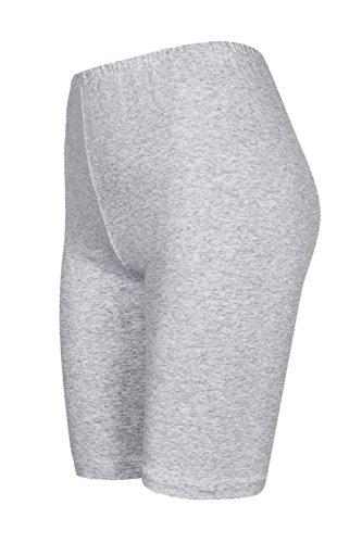 con ginocchio 16 2 sopra hot Grigio pantaloncini pantaloncini Chiaro pants da colori Pack calzoncini vqzHpp