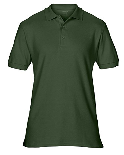 Gildan 85800Herren Kurze Ärmel Premium Baumwolle Sport Polo Shirt–Forest green–kleine