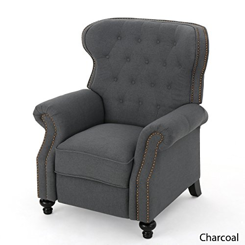 Waldo Tufted Wingback Recliner Chair(Charcoal) - Birch Reclining Recliner