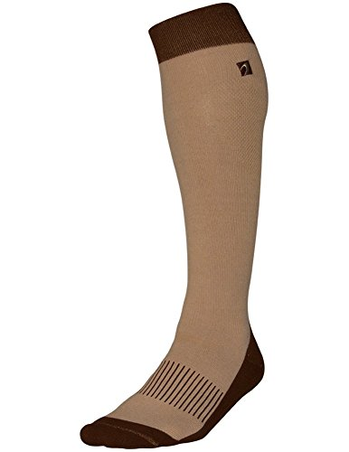 Acel Performance & Recovery Thermal Compression Socks (Beige/Brown, M)