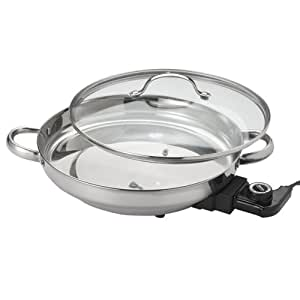 Aroma Housewares AFP-1600S Gourmet Series Stainless Steel Electric Skillet