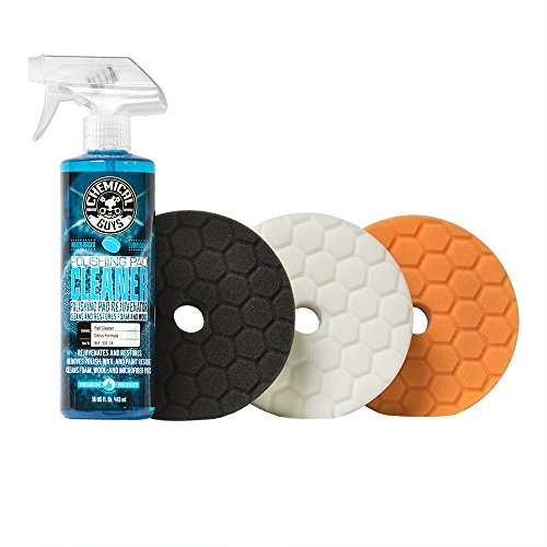 "Chemical Guys BUFX702 5.5"" Hex-Logic Quantum Buffing Pad Sampler Kit, 16 fl. oz (4 Items)"