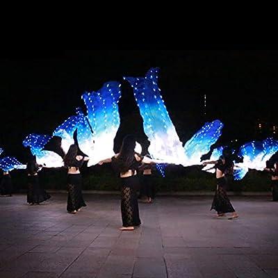 KT Mall Ventilador de Seda LED Vela Danza del Vientre Fiesta ...