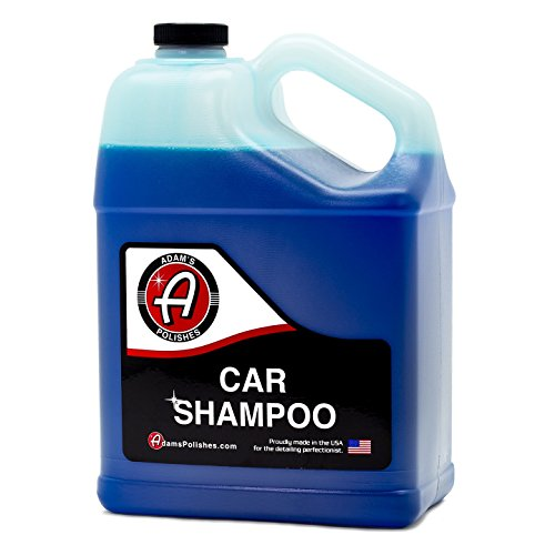 Adam's Car Wash Shampoo -pH Neutral Soap Formula for Safe, Spot Free Cleaning - Thick, Luxurious Suds That Always Rinses Clean - Ultra Slick Formula That Wont Scratch or Leave Water Spots (1 Gallon) (Car Soap)