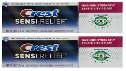 Crest Sensitivity Whitening Plus Scope Minty Fresh 4.1 oz (Pack of 2)