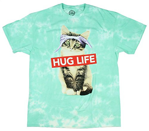 Hug Life Kitty Cat Graphic T-Shirt - Small