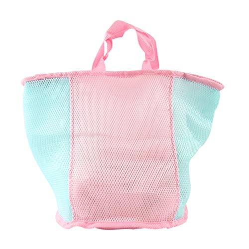 (FREELOVE Portable Machine Wash Bag/Travel Storage Pouch/Laundry Bags, with Zipper Closure (Pink/Blue, Basket 13'' by 16''))