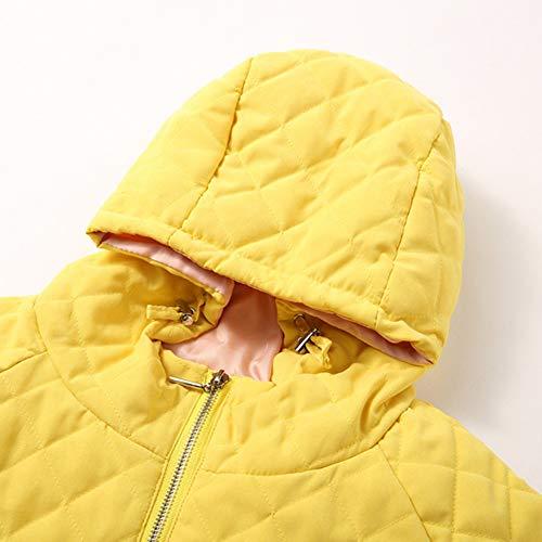 Grueso Chaqueta Cremallera Simple Abrigo Cortos Manga Caliente Amarillo Sylar Invierno Capucha Abrigos Más De Capa Rebajas Mujer Algodón Con Parka Larga 0nnUBqzZ