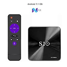 R-TV BOX S10 Amlogic S912 Android 7.1.2 3G DDR4 RAM 16G ROM Octa Core 4K UHD AC WiFi BT4.1 H.265 TV Box