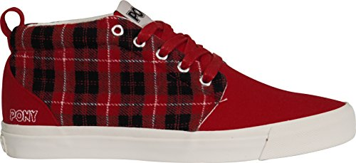 Baskets pour Pony mode homme rouge Red pqw8dw74