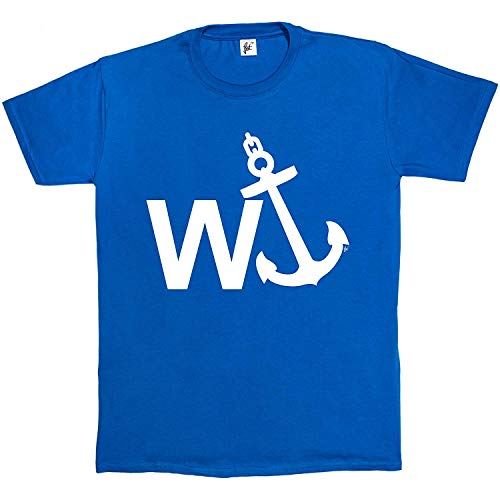 W'Anker Funny Anchor Rude Comedy Retro Gift Mens Cotton Short Sleeve T-Shirt Sizes S M L XL 2XL XXL 3XL XXXL Royal Blue
