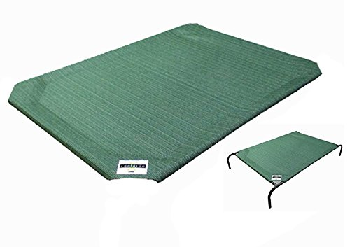 Coolaroo Elevated Pet Bed - Coolaroo Replacement Cover, The Original Elevated Pet Bed by Coolaroo, Large, Brunswick Green