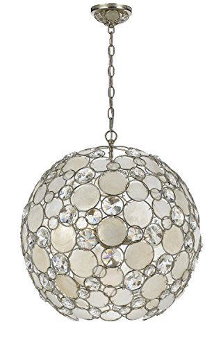 Accents Chandelier Light Six (Crystorama 529-SA Crystal Accents Six Light Chandeliers from Palla collection in Pwt, Nckl, B/S, Slvr.finish,)