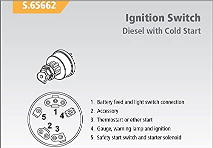 Amazon.com : Ford Tractor Ignition Key Switch w/ Pre-Heat - fits most  1965-up Diesel with Cold Start : Garden & OutdoorAmazon.com