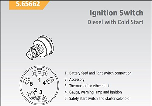 41NJqpwH7 L amazon com ford tractor ignition key switch w pre heat fits lucas ford tractor ignition switch wiring diagram at virtualis.co