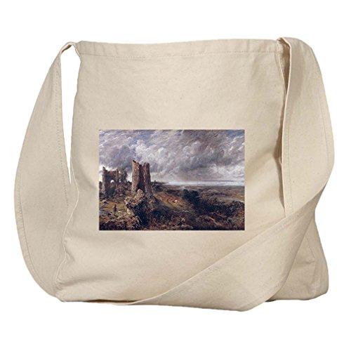 Hadleigh Castle (Constable) Organic Cotton Canvas Market Bag Tote (Castle Hadleigh)