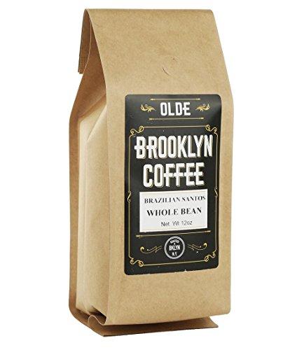 BRAZILIAN SANTOS, Whole Bean Coffee-American Light Roast 5-LB. By Olde Brooklyn Coffee