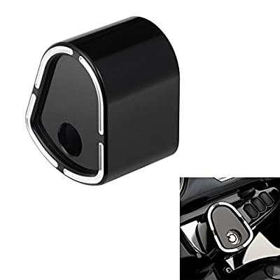 CNC Black Ignition Switch Cover Compatible for 2006-2013 Harley Davidson Touring Electra Street Road Glide Tri Glide FLH FLHX FLTR FLHR (Aluminum): Automotive