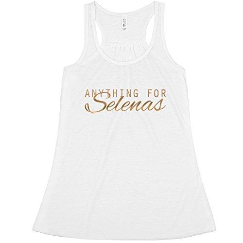 (Anything for Selenas: Bella Ladies Flowy Metallic Racerback Tank)