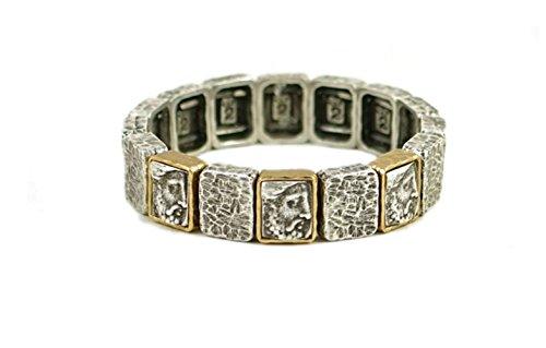 Tat2 Designs Women's Vintage Silver Plated Cloch Roman Man Bracelet by Tat2 Designs