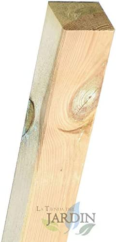 POSTES de MADERA 9x9 cm para JARDIN, para cercar un jardín, parque. (300 cm): Amazon.es: Bricolaje y herramientas